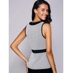 Casual Round Neck Print Ruffled Top For Women deal