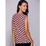 Casual Round Neck Geometric Top For Women deal