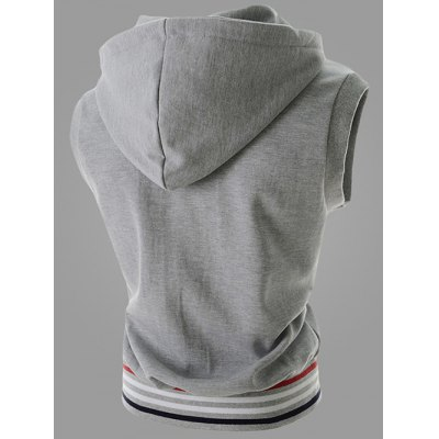 Hooded Drawstring Zipper Design Stripes Sleeveless Vest For MenWaistcoats<br>Hooded Drawstring Zipper Design Stripes Sleeveless Vest For Men<br><br>Material: Cotton Blends<br>Style: Casual<br>Clothing Length: Regular<br>Collar: Hooded<br>Thickness: Standard<br>Closure Type: Zipper<br>Weight: 0.450kg<br>Package Contents: 1 x Vest