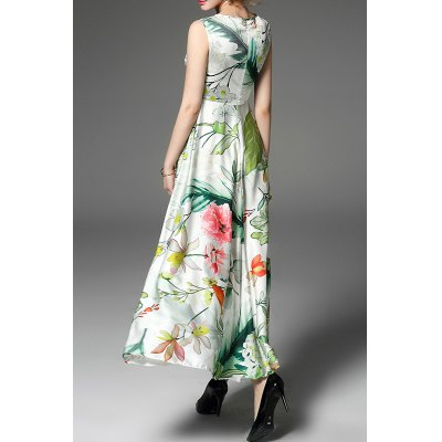 Round Neck High Waisted Floral Embroidery DressDesigner Dresses<br>Round Neck High Waisted Floral Embroidery Dress<br><br>Style: Casual<br>Occasion: Prom<br>Material: Polyester<br>Composition: Outer Composition:100% Polyester&lt;br&gt;Lining Composition:100% Polyester<br>Silhouette: A-Line<br>Dresses Length: Ankle-Length<br>Neckline: Round Collar<br>Sleeve Length: Sleeveless<br>Embellishment: Embroidery<br>Pattern Type: Floral<br>With Belt: No<br>Season: Fall,Spring,Summer<br>Weight: 0.400kg<br>Package Contents: 1 x Dress