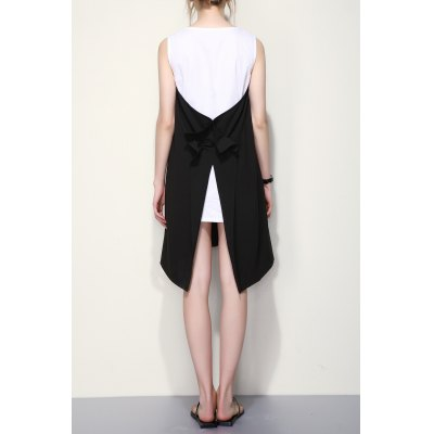 Irregular Hem Color Block Tank DressSleeveless Dresses<br>Irregular Hem Color Block Tank Dress<br><br>Style: Brief<br>Occasion: Casual,Day,Night Out,Work<br>Material: Cotton,Polyester<br>Composition: 97.3% Polyester,2.7% Cotton<br>Silhouette: A-Line<br>Dresses Length: Knee-Length<br>Neckline: Round Collar<br>Sleeve Length: Sleeveless<br>Pattern Type: Others<br>With Belt: No<br>Season: Summer<br>Weight: 0.320kg<br>Package Contents: 1 x Dress