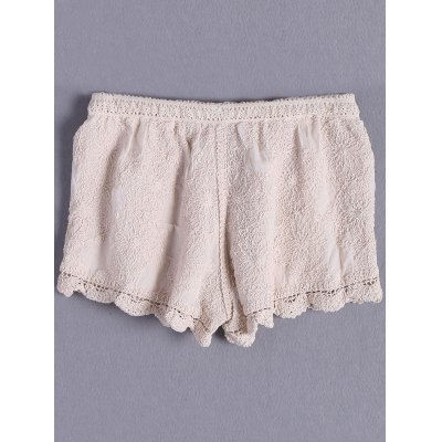 Bohemian Crochet Solid Color Shorts For WomenShorts<br>Bohemian Crochet Solid Color Shorts For Women<br><br>Style: Casual<br>Length: Mini<br>Material: Spandex<br>Fit Type: Regular<br>Waist Type: Mid<br>Closure Type: Elastic Waist<br>Front Style: Flat<br>Pattern Type: Others<br>Weight: 0.370kg<br>Package Contents: 1 x Shorts