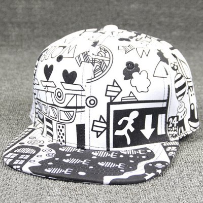 Chic Multielements Scrawl Pattern College Style Baseball Cap For Women