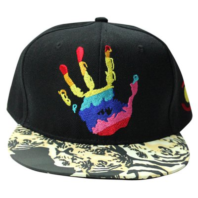 Colorful Hand Embroidery Tiger Pattern Brim Baseball Cap