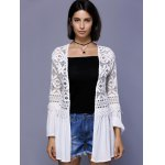 cheap Trendy Crochet Lace-Trim Flare Sleeve Cover Up For Women