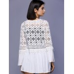 best Trendy Crochet Lace-Trim Flare Sleeve Cover Up For Women