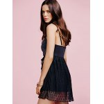 Stylish Cami Black Lace Splice Women's Mini Dress deal