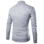 cheap Casual Stand Collar Button Design Long Sleeves Sweater For Men