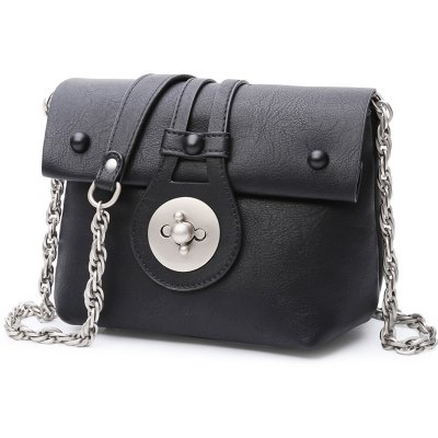 Graceful Hasp and Chains Design Crossbody Bag For Women