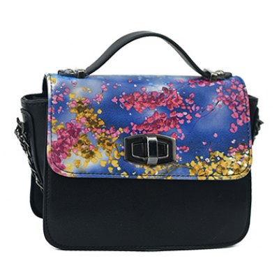Trendy Printed and Hasp Design Tote Bag For Women