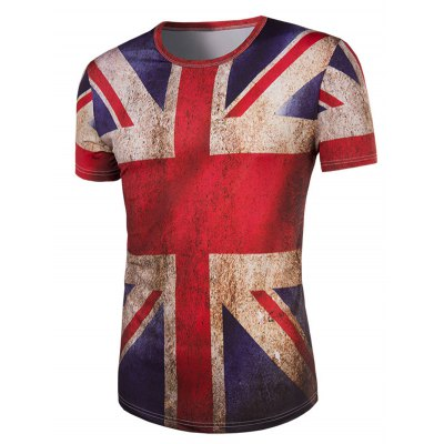 3D Retro Flag Round Neck Short Sleeve T-Shirt For MenMens Short Sleeve Tees<br>3D Retro Flag Round Neck Short Sleeve T-Shirt For Men<br><br>Style: Casual<br>Material: Cotton Blends<br>Sleeve Length: Short<br>Collar: Round Neck<br>Weight: 0.200kg<br>Package Contents: 1 x T-Shirt<br>Pattern Type: Others