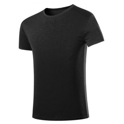 Round Collar Solid Color Short Sleeves T-Shirts For Men