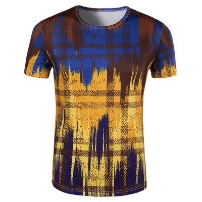 Painting Collarless Short Sleeves For Men