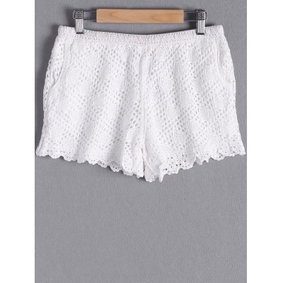 Stylish Pocket Crochet Shorts For Women