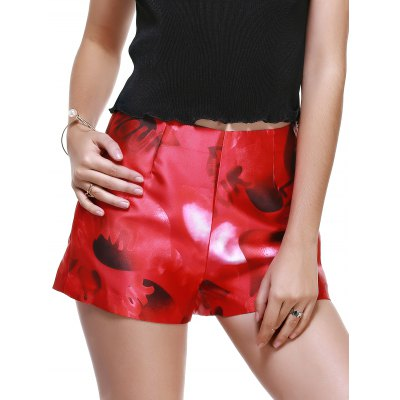 Fashionable High-Waisted Printing Slimming Shorts For Women