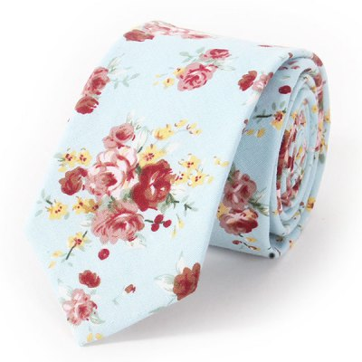 Stylish Sweet Rose Print Formal Wedding Party Tie For Men