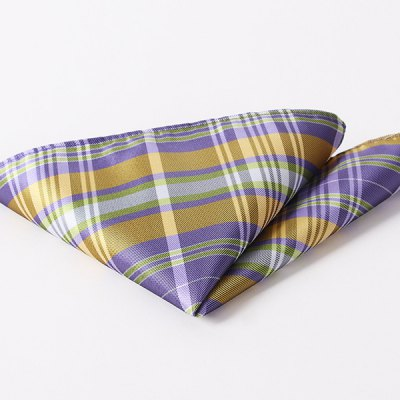Stylish Plaid Pattern Wedding or Party Business Suit Pocket Square For Men