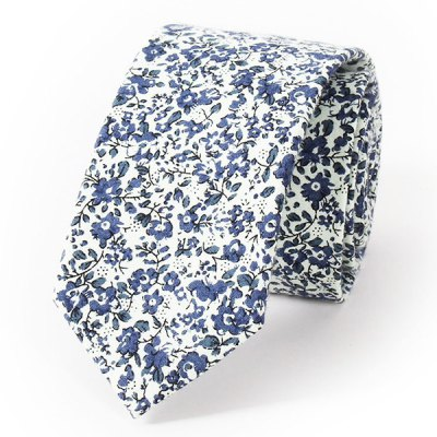 Tiny Flowers Print Wedding Casual Party White Tie