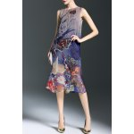 A-Line Printed Silk Dress deal