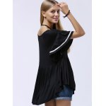 Stylish Scoop Neck Butterfly Sleeve Ruffle T-Shirt For Women photo