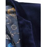 One Button Corduroy Flap Pocket Long Sleeves Blazer For Men deal