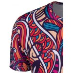 Slimming Collarless National Style Printing Short Sleeves For Men for sale
