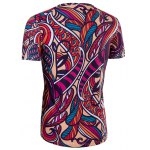 Slimming Collarless National Style Printing Short Sleeves For Men deal