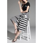 Top and Striped Wide Leg Pants deal
