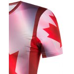 Slimming Collarless Maple Leaf Printing Short Sleeves For Men for sale