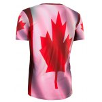 Slimming Collarless Maple Leaf Printing Short Sleeves For Men deal