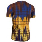 Slimming Painting Collarless Short Sleeves For Men deal
