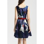 cheap Floral Print Insect Beaded Dress