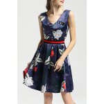 Floral Print Insect Beaded Dress