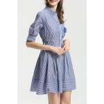 Striped Preppy Style Dress deal