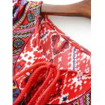 Casual Three Quarter Sleeve Women's Red Peasant Dress deal