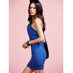 Stylish Cami Blue Denim Women's Bodycon Dress deal