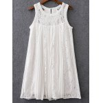 Sweet Mix Lace Pleated Women's Dress