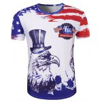 Hot Sale 3D Owl Printed Round Neck Short Sleeve T-Shirt For Men