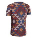 3D Printed Round Neck Short Sleeve T-Shirt For Men deal