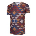 cheap 3D Printed Round Neck Short Sleeve T-Shirt For Men