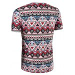 3D Geometry Printed Round Neck Short Sleeve T-Shirt For Men deal