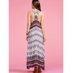 Stylish Round Neck Sleeveless Bohemian Printed Women's Maxi Dress for sale