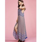 Stylish Round Neck Sleeveless Ethnic Print Women's Maxi Dress deal