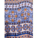 best Stylish Round Neck Sleeveless Ethnic Print Women's Maxi Dress