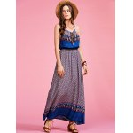 Ethnic Style Cami Print High Waisted Maxi Dress For Women for sale
