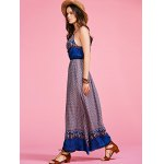 best Ethnic Style Cami Print High Waisted Maxi Dress For Women