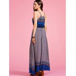 Ethnic Style Cami Print High Waisted Maxi Dress For Women photo