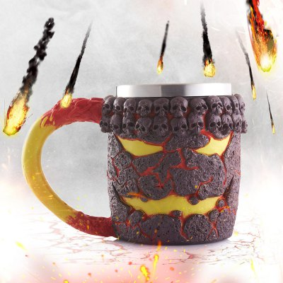 Halloween Magma Monster Pattern Beer Cup For Bar Festive Decoration