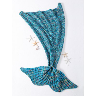 Fashionable Crocheted Knitted Fish Scale Tail Shape Blankets