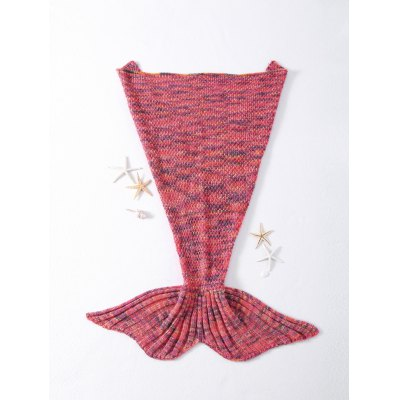 Rhombus Pattern Crocheted Knitted Mermaid Tail Shape Blankets